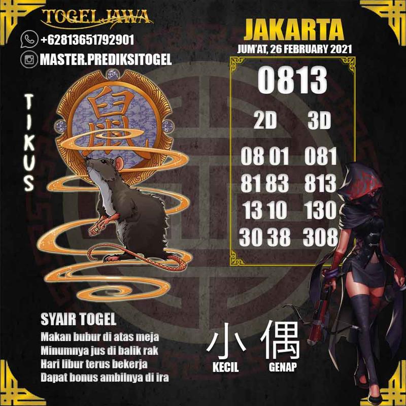 Prediksi Jakarta Tanggal 2021-02-26