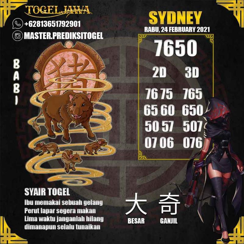 Prediksi Sydney Tanggal 2021-02-24