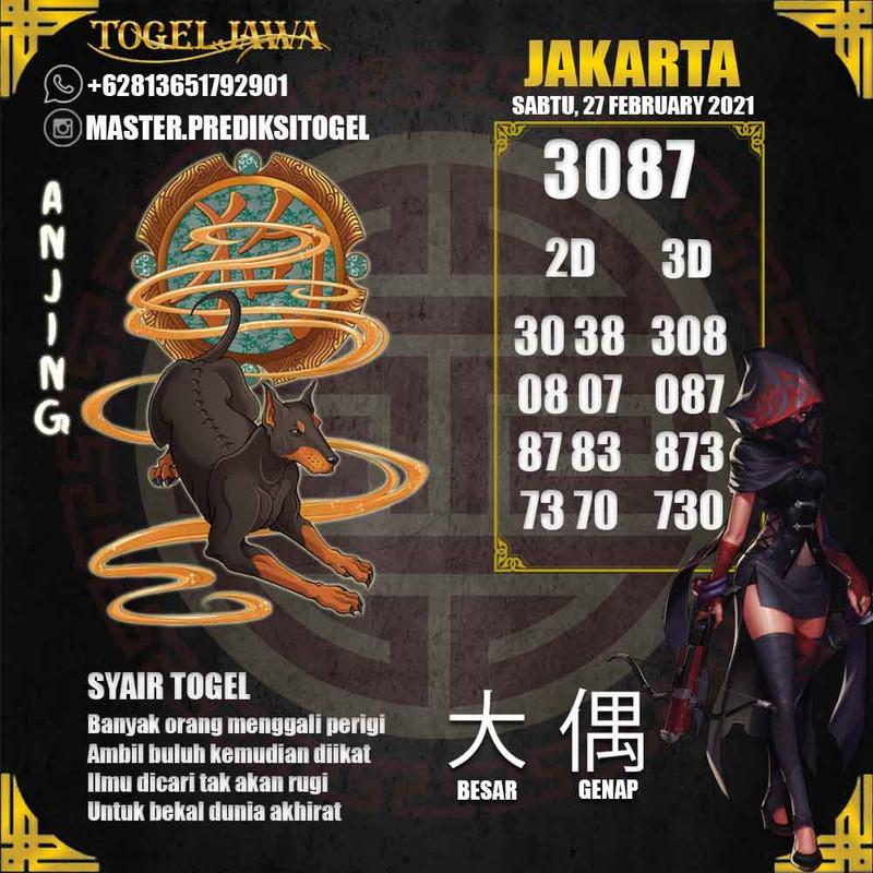 Prediksi Jakarta Tanggal 2021-02-27