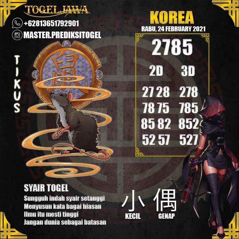 Prediksi Korea Tanggal 2021-02-24