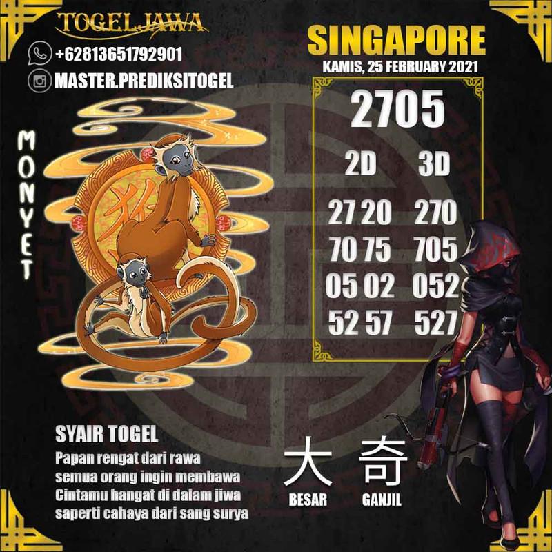 Prediksi Singapore Tanggal 2021-02-25
