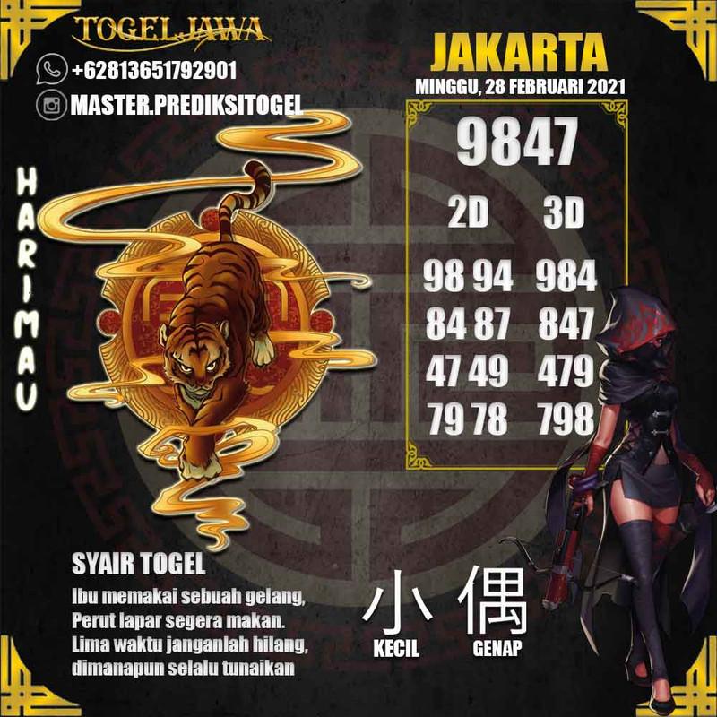 Prediksi Jakarta Tanggal 2021-02-28