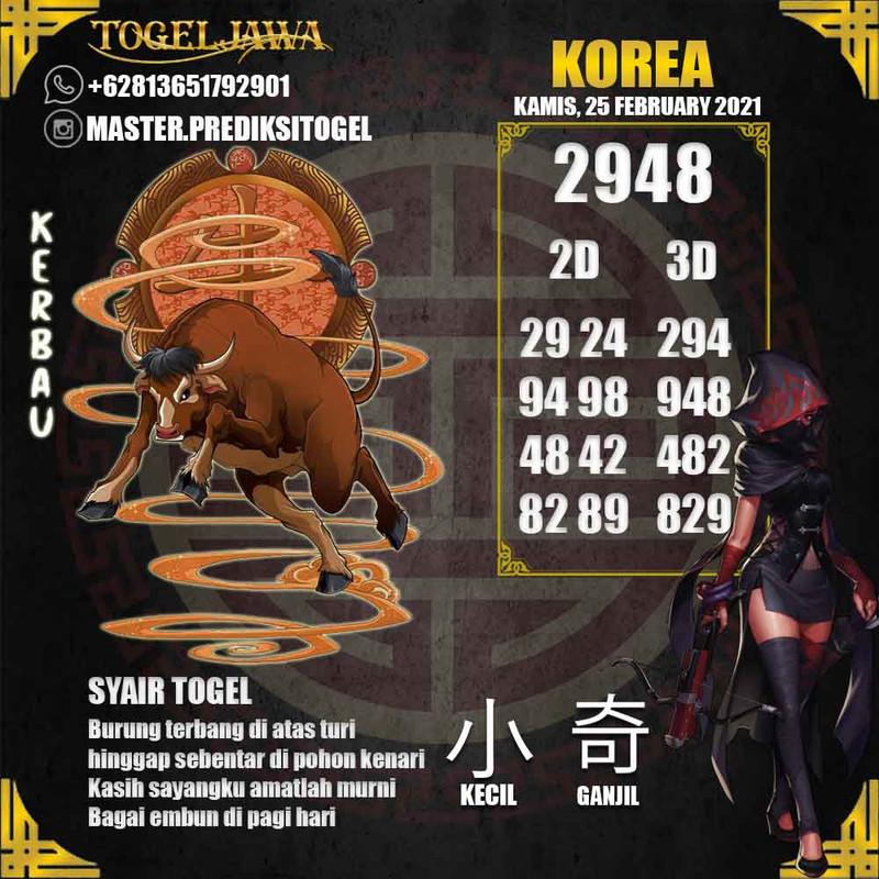 Prediksi Korea Tanggal 2021-02-25