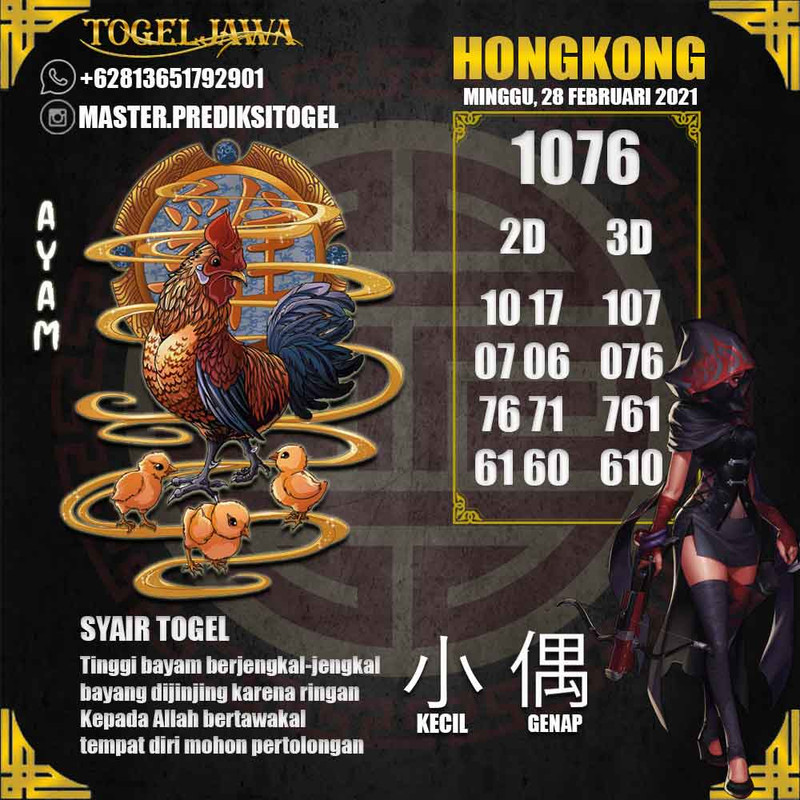 Prediksi Hongkong Tanggal 2021-02-28