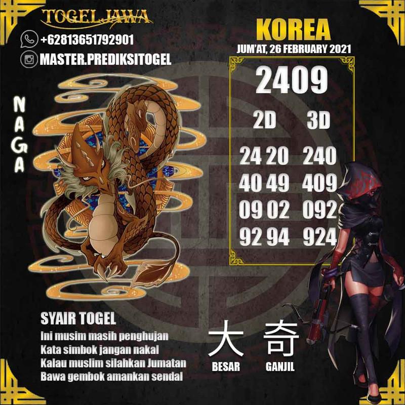 Prediksi Korea Tanggal 2021-02-26