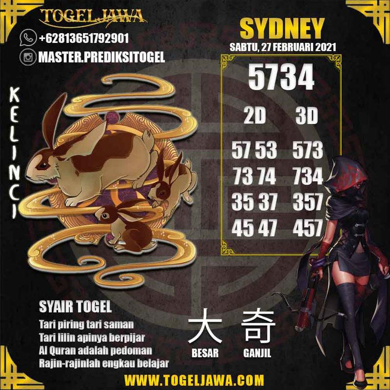 Prediksi Sydney Tanggal 2021-02-27