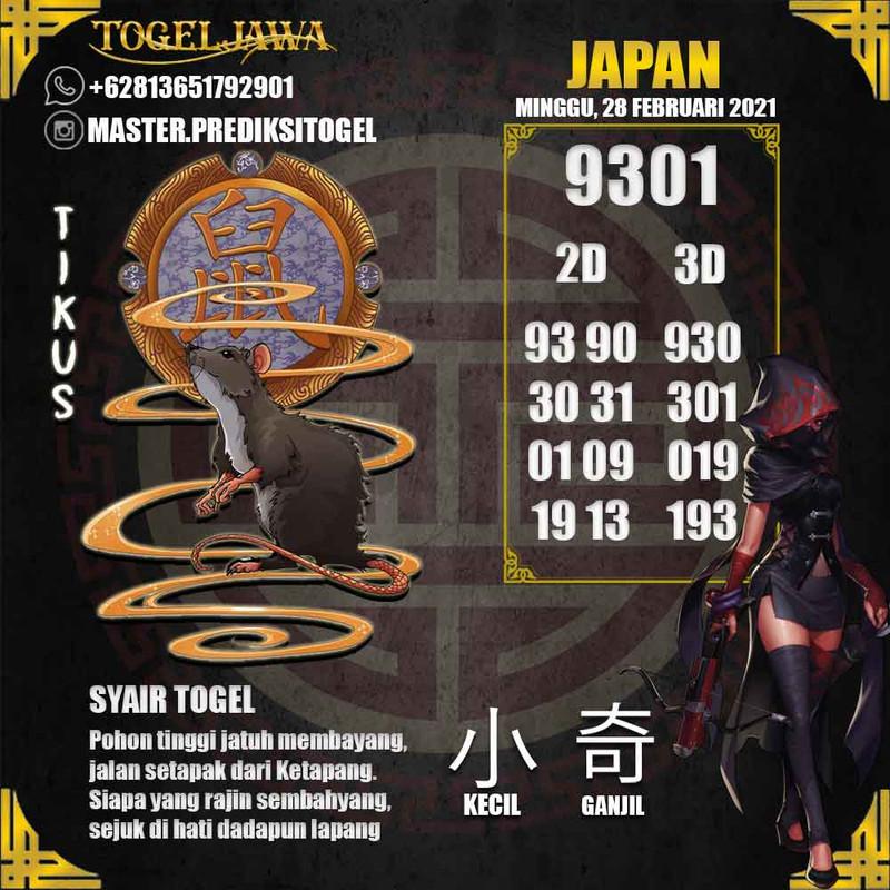 Prediksi Japan Tanggal 2021-02-28