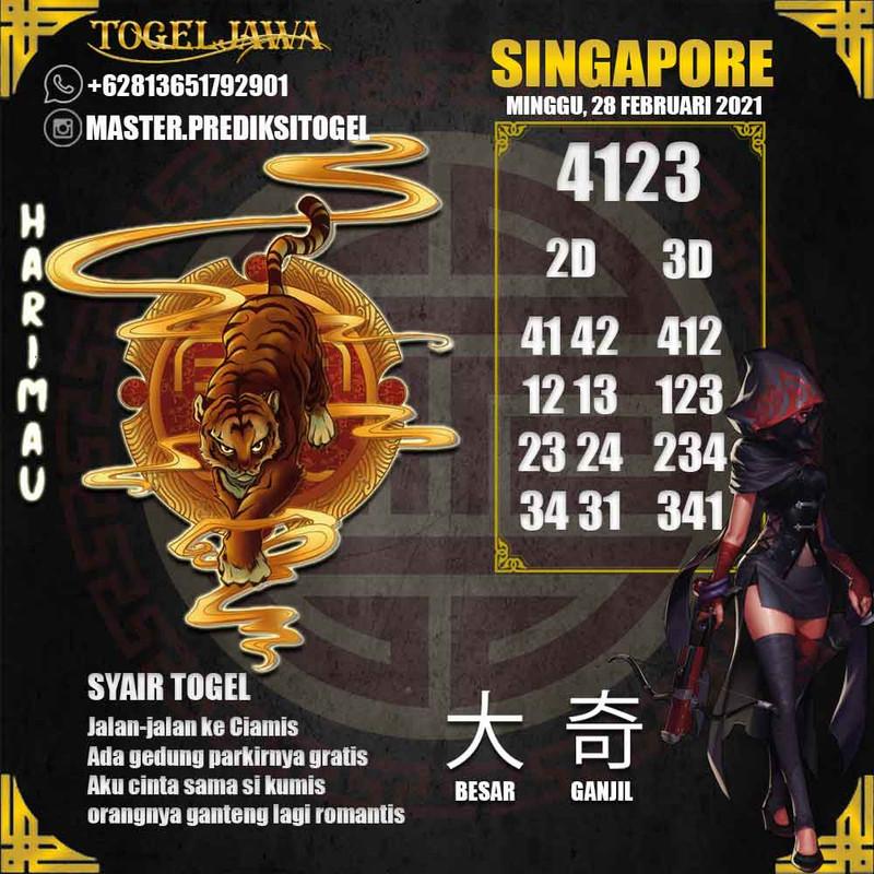 Prediksi Singapore Tanggal 2021-02-28