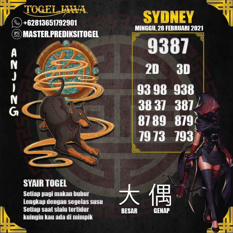 Prediksi Sydney Tanggal 2021-02-28