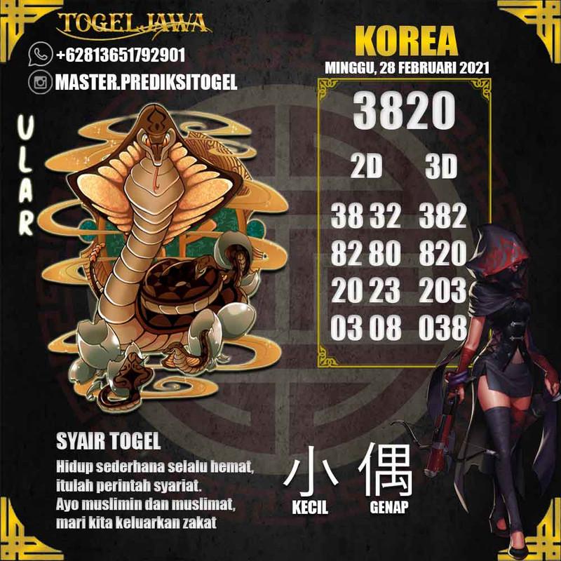 Prediksi Korea Tanggal 2021-02-28