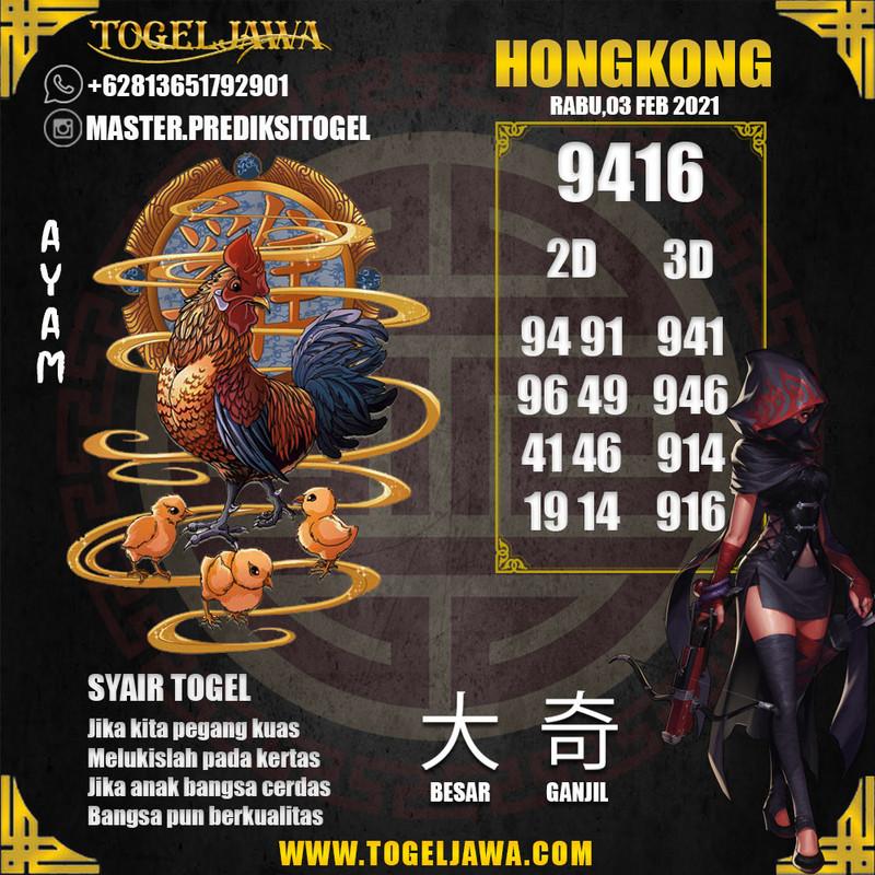 Prediksi Hongkong Tanggal 2021-02-03