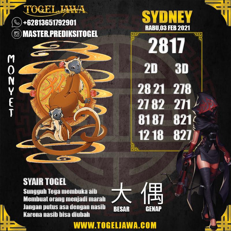 Prediksi Sydney Tanggal 2021-02-03