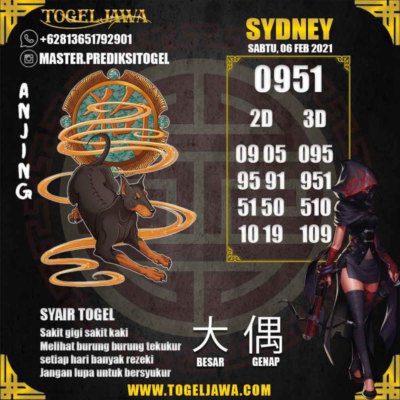 Prediksi Sydney Tanggal 2021-02-06
