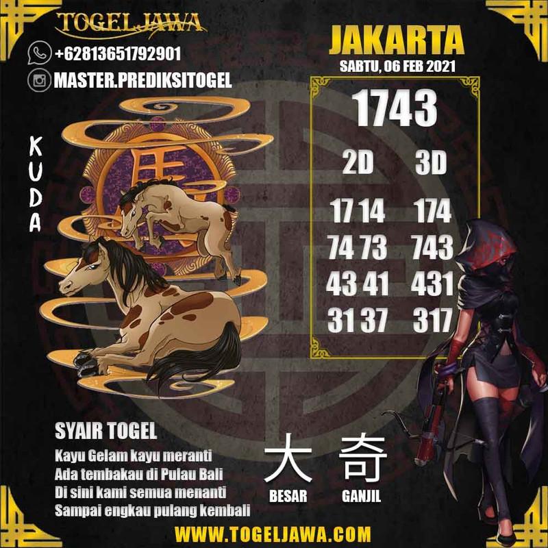 Prediksi Jakarta Tanggal 2021-02-06