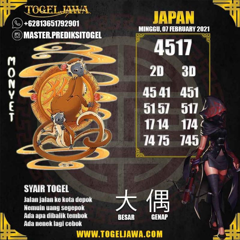 Prediksi Japan Tanggal 2021-02-07