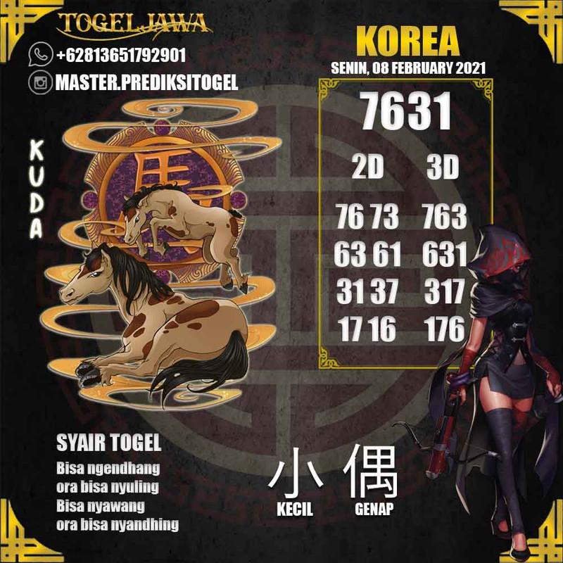 Prediksi Korea Tanggal 2021-02-08