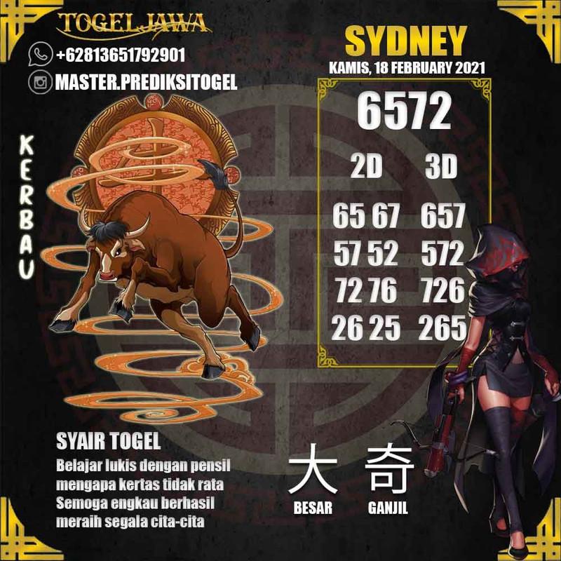 Prediksi Sydney Tanggal 2021-02-18
