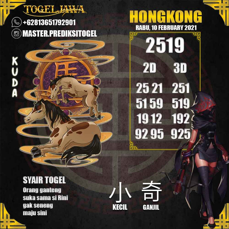 Prediksi Jakarta Tanggal 2021-02-10