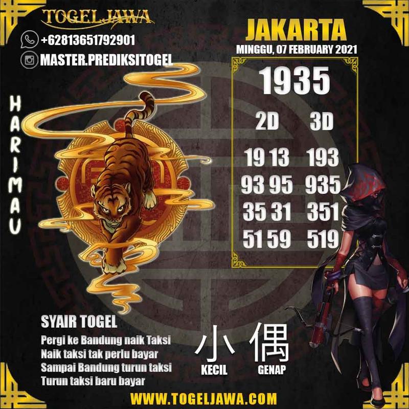 Prediksi Jakarta Tanggal 2021-02-07