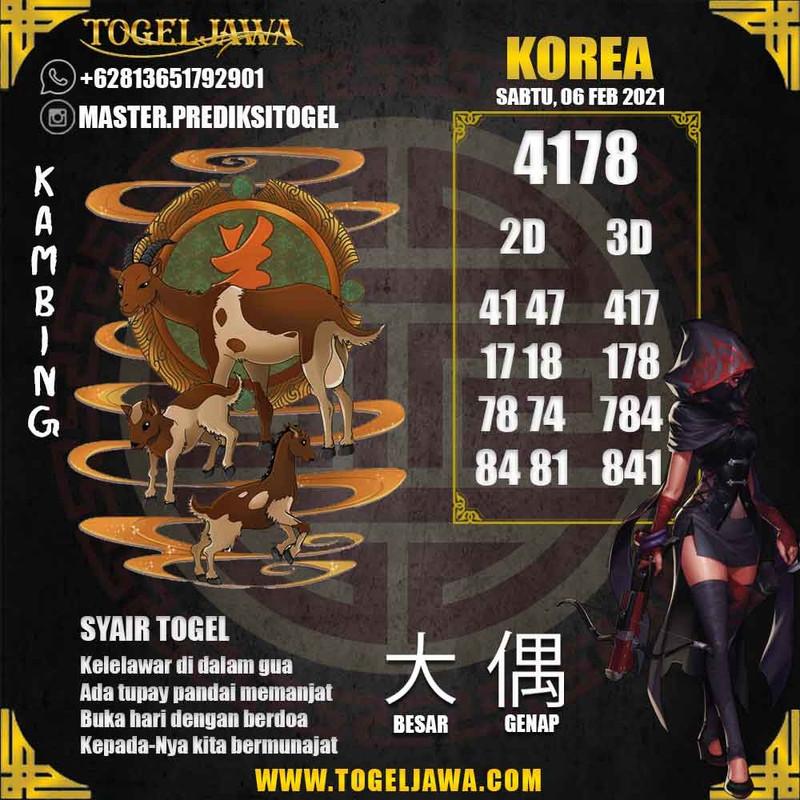 Prediksi Korea Tanggal 2021-02-06