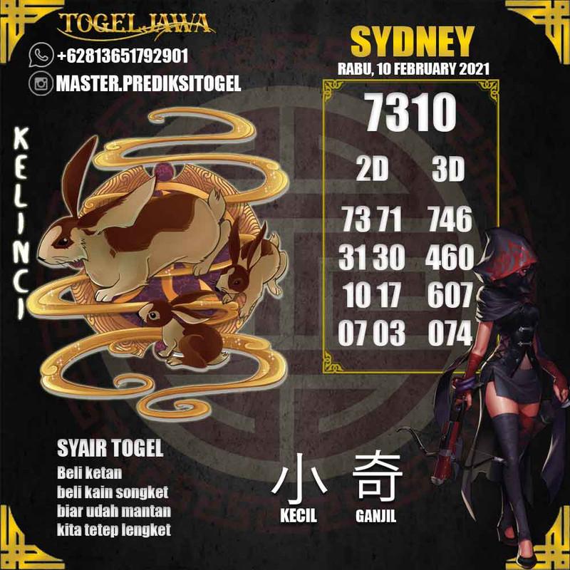 Prediksi Sydney Tanggal 2021-02-10