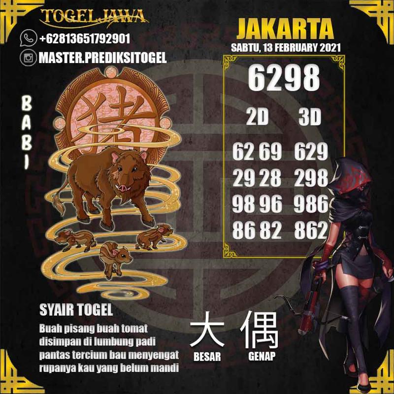 Prediksi Jakarta Tanggal 2021-02-13