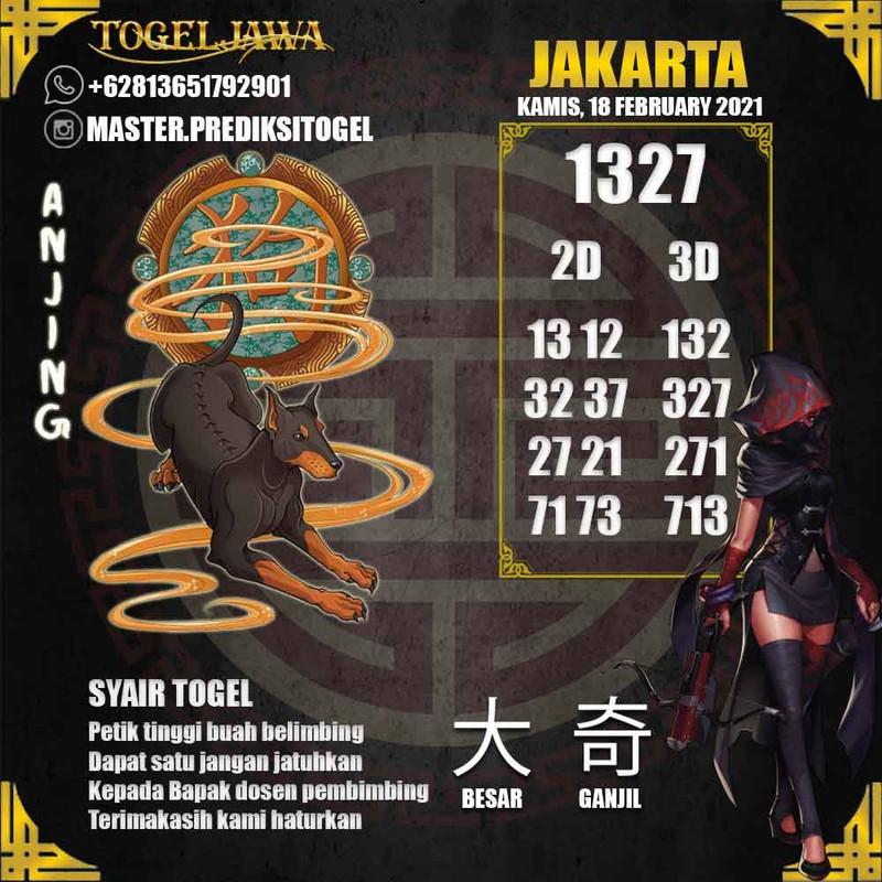 Prediksi Jakarta Tanggal 2021-02-18