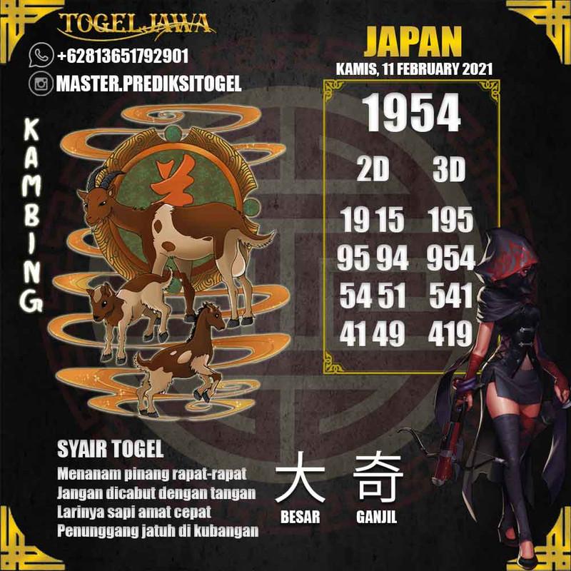 Prediksi Japan Tanggal 2021-02-11