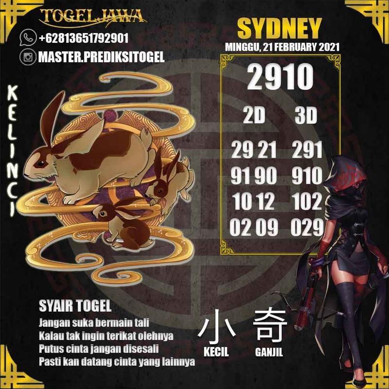 Prediksi Sydney Tanggal 2021-02-21