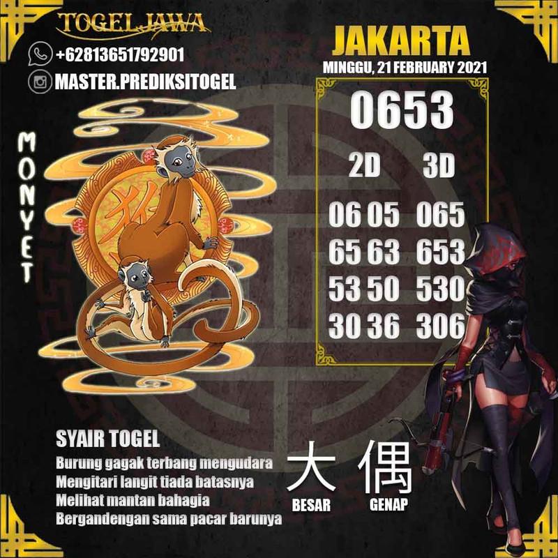 Prediksi Jakarta Tanggal 2021-02-21