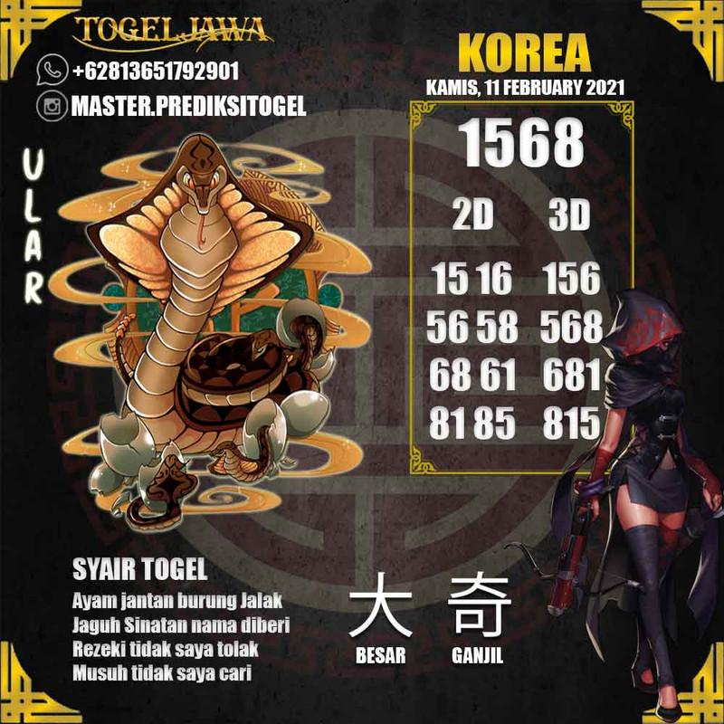 Prediksi Korea Tanggal 2021-02-11
