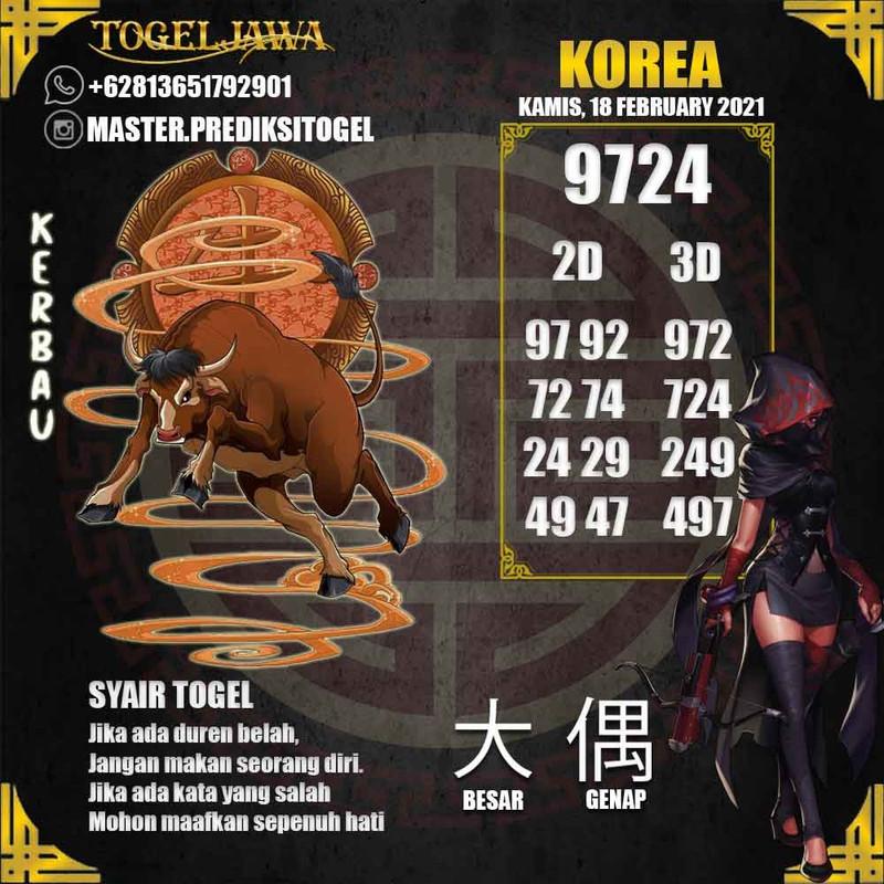 Prediksi Korea Tanggal 2021-02-18