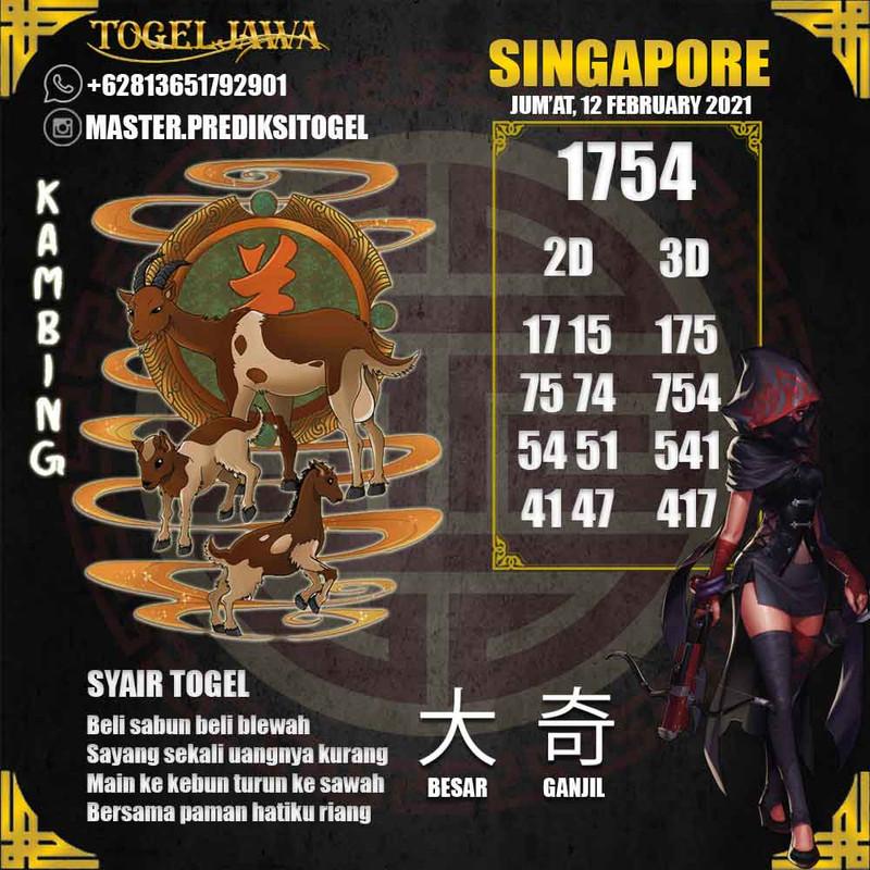 Prediksi Singapore Tanggal 2021-02-12