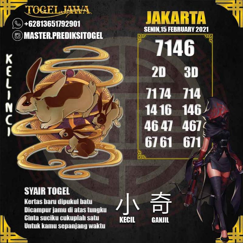 Prediksi Jakarta Tanggal 2021-02-15