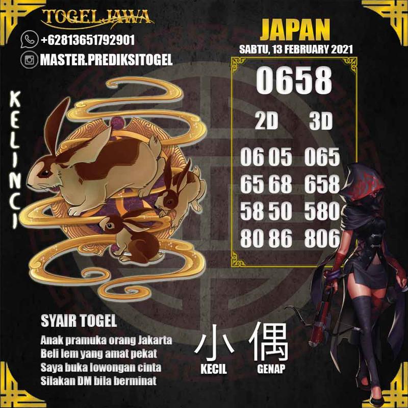 Prediksi Japan Tanggal 2021-02-13