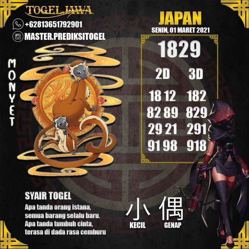 Prediksi Japan Tanggal 2021-03-01