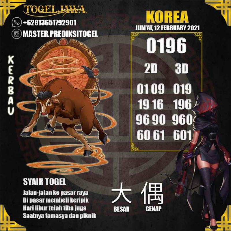 Prediksi Korea Tanggal 2021-02-12