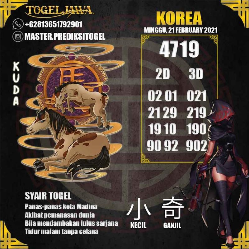 Prediksi Korea Tanggal 2021-02-21