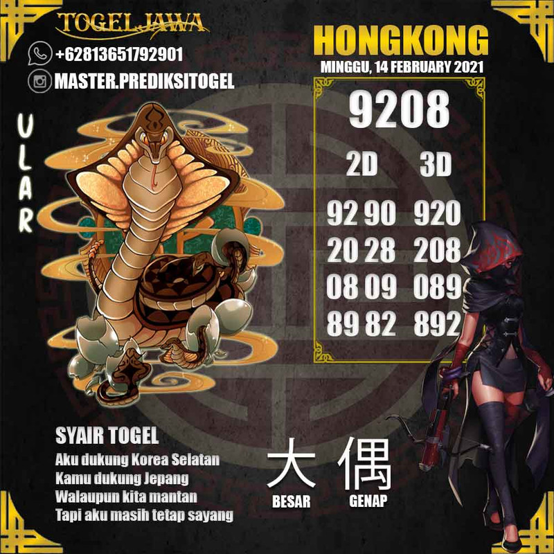 Prediksi Hongkong Tanggal 2021-02-14