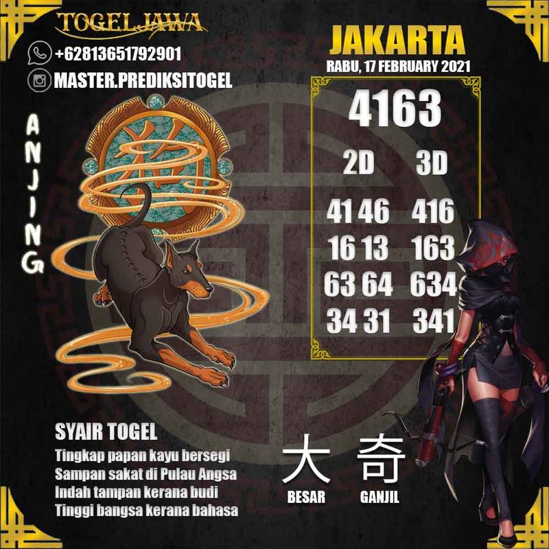 Prediksi Jakarta Tanggal 2021-02-17