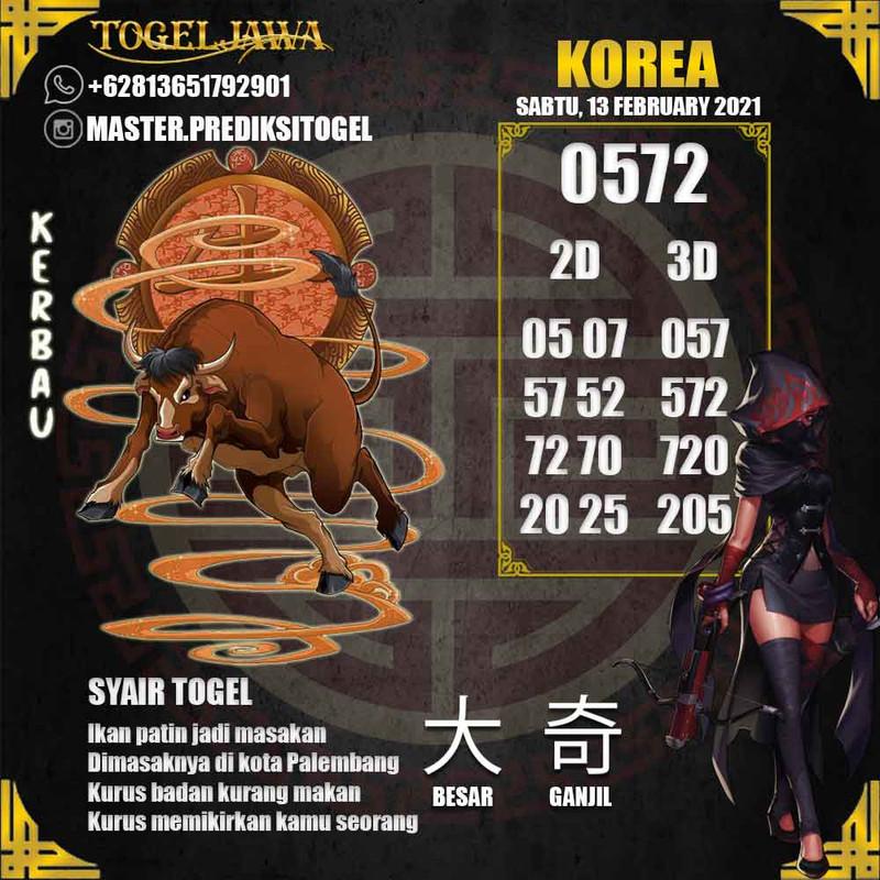 Prediksi Korea Tanggal 2021-02-13