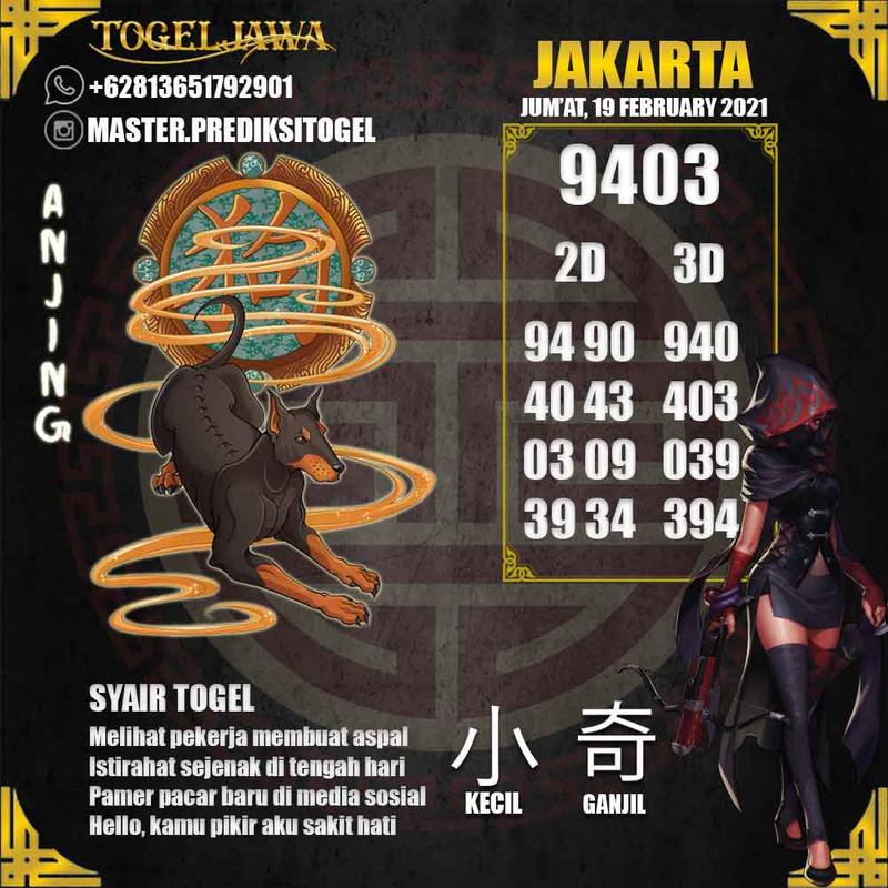 Prediksi Jakarta Tanggal 2021-02-19