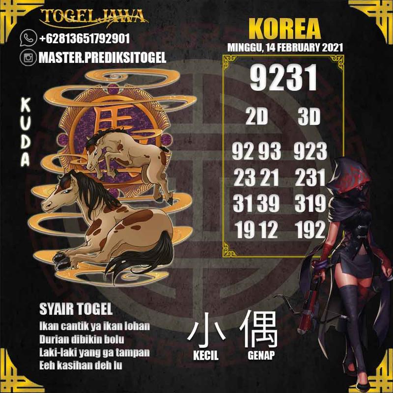 Prediksi Korea Tanggal 2021-02-14
