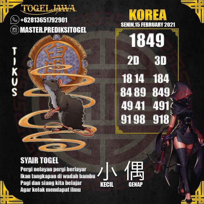 Prediksi Korea Tanggal 2021-02-15