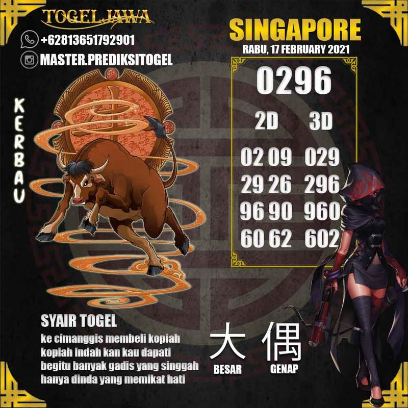 Prediksi Singapore Tanggal 2021-02-17