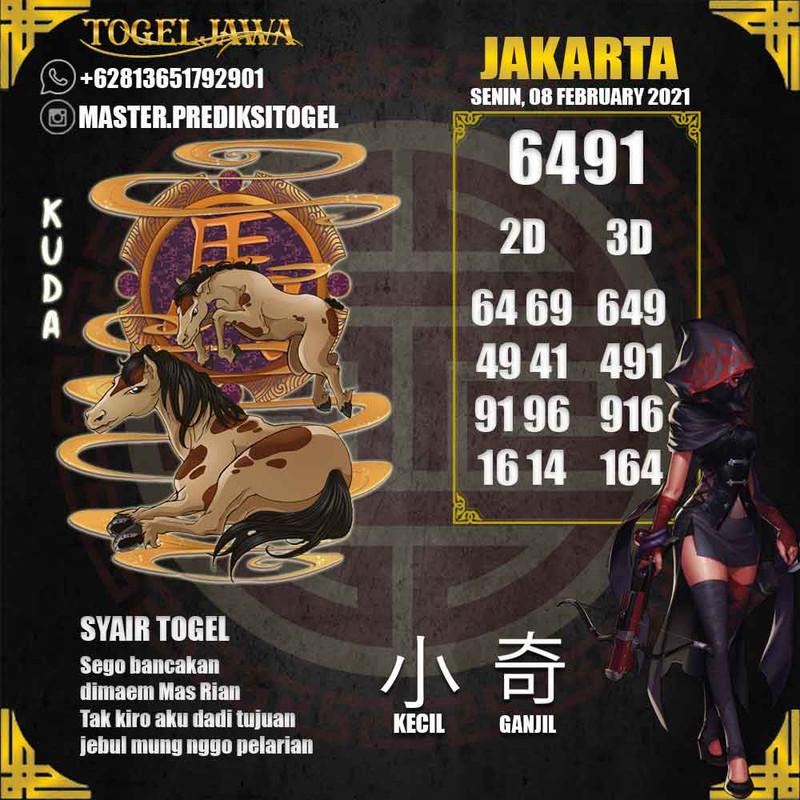 Prediksi Jakarta Tanggal 2021-02-08