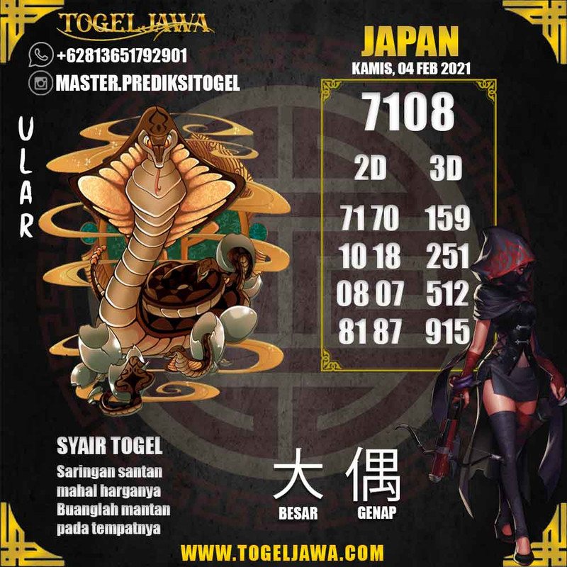 Prediksi Japan Tanggal 2021-02-04