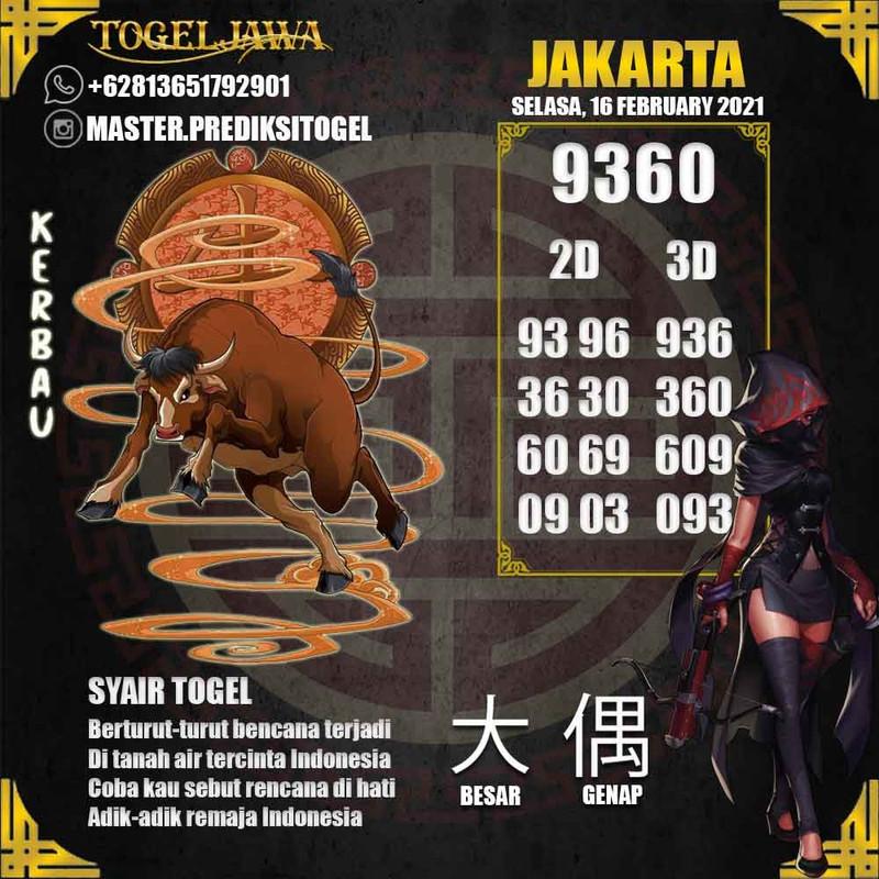 Prediksi Jakarta Tanggal 2021-02-16