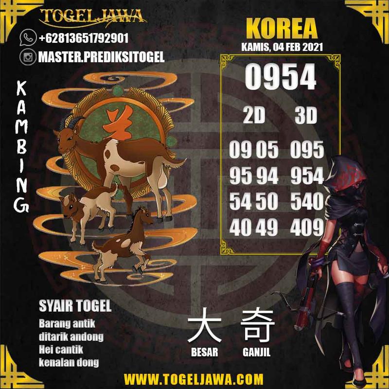 Prediksi Korea Tanggal 2021-02-04