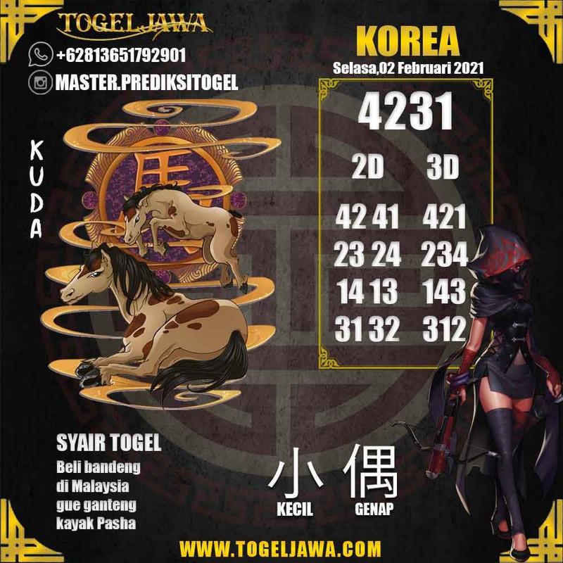 Prediksi Korea Tanggal 2021-02-02